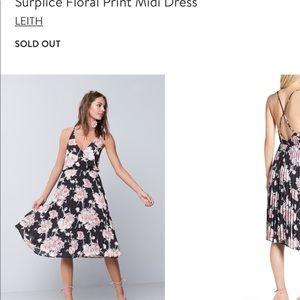 Leith midi floral print dress